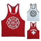 Men's workout tank tops, gym tanks bodybuilding top stringer vest muscle shirt