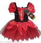 HALLOWEEN Witch Red Spider cobweb Tutu Dress up Fancy Costume Party New Horror
