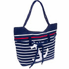 SILVERHOOKS NEW Women's Striped Nautical Anchor Beach Tote Bag
