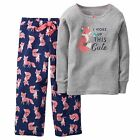 Carter's   Girls' 2-Piece Cotton & Fleece Pajamas Set    MSRP$32.00   Size 4--7