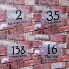 PERSONALISED HOUSE NUMBER SIGN PLAQUE NAME STREET ADDRESS PLAQUE PLATE FROSTED