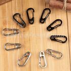 5X EDC Paracord Carabiner Snap Spring Clip Hook Keychain Outdoor Survival Tools