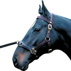 QUALITY NYLON WEBBING LUNGE CAVESSON SOFT LEATHER NOSE PIECE 4 SIZES - BLACK