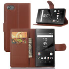 Luxury Flip Wallet Leather Case Stand Cover For Sony Xperia Z5 Compact / mini