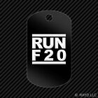 RUN F20 Keychain GI dog tag engraved many colors  f series jdm