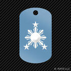 Philippines Sun Keychain GI dog tag engraved many colors #2 stars filipino