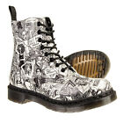 Dr Martens Pascal Party People Boots (Black/White)