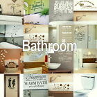 Bath Wall Stickers Home Art Decor Self Adhesive Vinyl Transfer Large Quote Decal