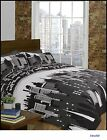 Printed Skyline Black& White 3Pcs Duvet Bed/ Bedding Set. London, NewYork& Paris