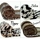 Animal SkinPrint/Pattern Fleece Faux Fur Roll Mink Throws/ Bed Blankets All size