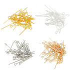 100/50PCS Silver Gold Plated Ball Head Pins Jewelry Finding 16/20/30/40/50/60mm