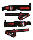 Wrist Wraps 1 Pair + Lifting Straps 1 Pair Bundle Weightlifting Powerlifting