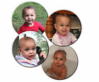 CUSTOM PHOTO ROUND PERSONALIZED SANDSTONE COASTER SET, 4 COASTERS-ADD TEXT
