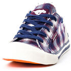 Rocket Dog Jazzin Womens Textile Navy White Trainers