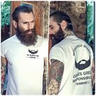 The Bearded Man Company With Great Beard T Shirt Gift Edgy Mens S M L XL