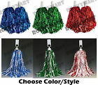 1 PAIR Cheerleader POM POMS Cheering Party Dance -6 Color Options- RM3111
