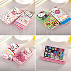 Hellokitty Cartoon Hidden Magnet Leather Wallet Cover For iPhone 6/6S &6/6S Plus