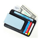 Fashion Men's Leather Wallet Money Clip Credit Card ID Holder Purse Wallet