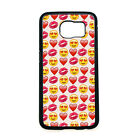 Red Lip Love Emoji Heart Hard Cover Case for Samsung Galaxy S3 S4 S6 S7 Note 4 5