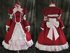 a-121 S/M/L/XL/XXL BLACK BUTLER Kuroshitsuji ELIZABETH rot Cosplay costume dress