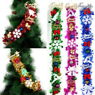 85CM Christmas Tree Decor Wreath Sparkling Glitter Bling Shiny Garland Streamers