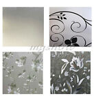 Privacy Static Frosted Glass Window Film Etched Flower Bathroom Office Sticker