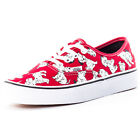 Vans Disney Authentic Womens Canvas Red Trainers New Shoes All Sizes