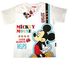 Boys MICKEY MOUSE white short sleeve cotton summer t-shirt S-XL 3-9y Free Ship