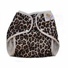 NEW! Nature Babies Classic Wrap Waterproof Nappy Cover,  Poppers. LEOPARD PRINT.�