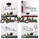 Quote Words Art Removable Vinyl Mural Wall Sticker kitchen Decal Decor DIY UK
