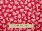 Fairy Castle Hearts Stars Pink Valentine Love Fabriquilt Cotton Fabric 1.39 Yds