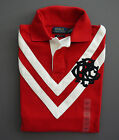 NWT New Polo Ralph Lauren Crest Chevron Rugby Shirt Custom Fit S M L XL 2XL
