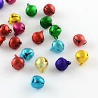 100 x Aluminum Jingle Bell Charms, Mixed Colors, 3 Sizes to choose from