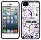 I love Gymnastics Gymnast strength, Rubber Case for iPhone / Galaxy / Note /Edge