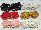 Chrysanthemum Chinese frog closure fasteners Cheongsam knot buttons Diy 5color