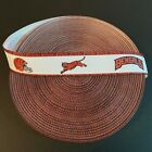 "1"" Cincinnati Bengals Striped Border Grosgrain Ribbon by the Yard (USA SELLER) $4.85 USD on eBay"