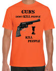 Happy Gilmore Inspired Guns Don't I Kill People Funny Golf Movie Orange T-Shirt