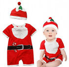 Newborn Baby Boy Girl Chirstmas Hat Romper Bodysuit Xmas Outfits Clothes set