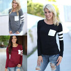 Women Casual Crochet Blouse Pullover Long Sleeve Loose Tops T-Shirt Blouse New