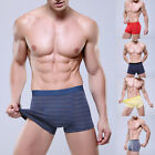 2015 Newest Coming Men's Sexy Striped Boxer Briefs Underwear Modal Fabric Boxers