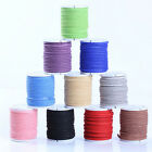 3M Genuine Leather Cord Suede Lace Jewelry Finding/Beading/Thread Flat 3mm DIY