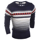 2015 New Warm Men's Sweater Pullover Round Neck Men's Silm Fit Sweaters