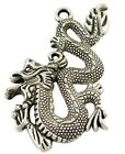 1 x Tibetan Style Large Dragon Charms/Pendants 52.5x31x3mm