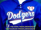 Women's Los Angeles Dodgers Glitter Zipper Hoodie on Ebay