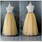 Long Women Skirts  Wedding Bridal Bridesmaid Tulle Skirts Ball Gown Plus Size