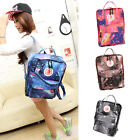 Women Girl Ladies Canvas Galaxy Print Cosmic Space Schoolbag Travel Backpack Bag