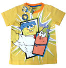 SPONGEBOB Kids yellow cotton summer t-shirt Size 4,6,8,10 Age 3-7y Free Ship