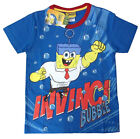 SPONGEBOB Kids blue cotton summer t-shirt Size 4,6,8,10 Age 3-7y Free Ship