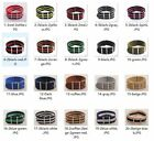 24mm Nylon Wrist Watch Band Strap Watch Stainless Steel Buckle 33color available