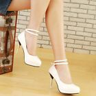 NEW Stunning Womens Patent Straps High Heels Shoes Sz 3-9(A44093)